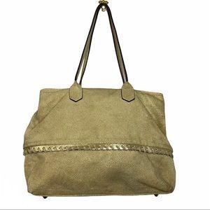 Innue Gold Genuine Leather Snakeskin Shoulder Bag
